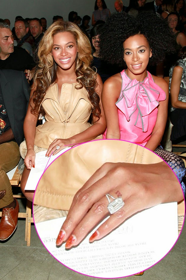 Beyonce With Her Engagement Ring And Tattoo