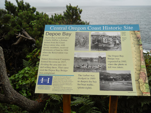 Depoe Bay historic plaque