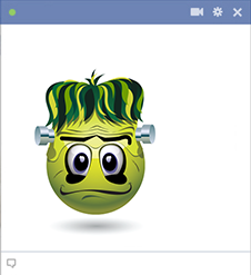 Facebook Emoticon Frankenstein