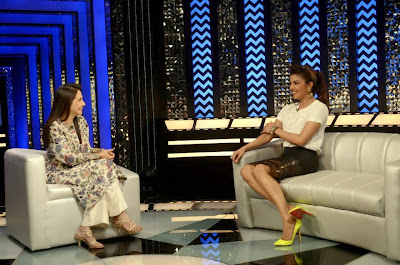 Priyanka Chopra on the sets of The Front Row With Anupama Chopra