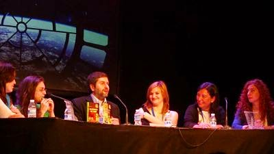 Con Martín Piñol y otros autores en el Festival de Fantasía de Fuenlabrada