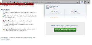 Alexa toolbar web