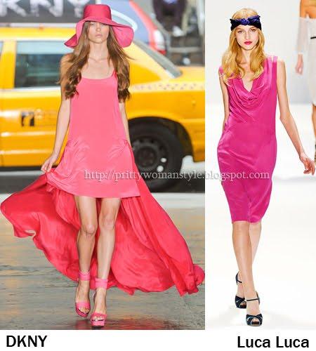 Рокли в цикламено-розови нюанси Пролет/Лято 2012