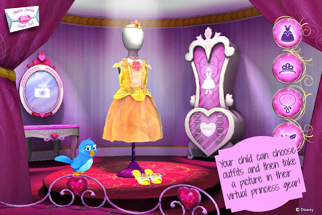 Disney Princess  Royal Ball Augmented Reality App dress up #DisneyPrincessWMT