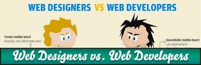 Perbedaan Web Developer, Web Designer dan Webmaster