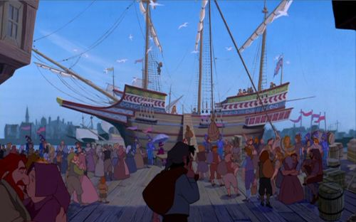 English Ship Pocahontas 1995 animatedfilmreviews.blogspot.com