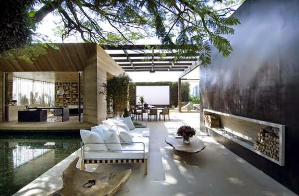"""TOP 7 UNIQUE HOUSE DESIGN: MODERN HOME LOFT FEATURES """"OUTDOOR"""" ELEMENTS INSIDE, LIKE STONE, STEEL, GLASS AND WOOD PANELING, AND ELIMINATES"""