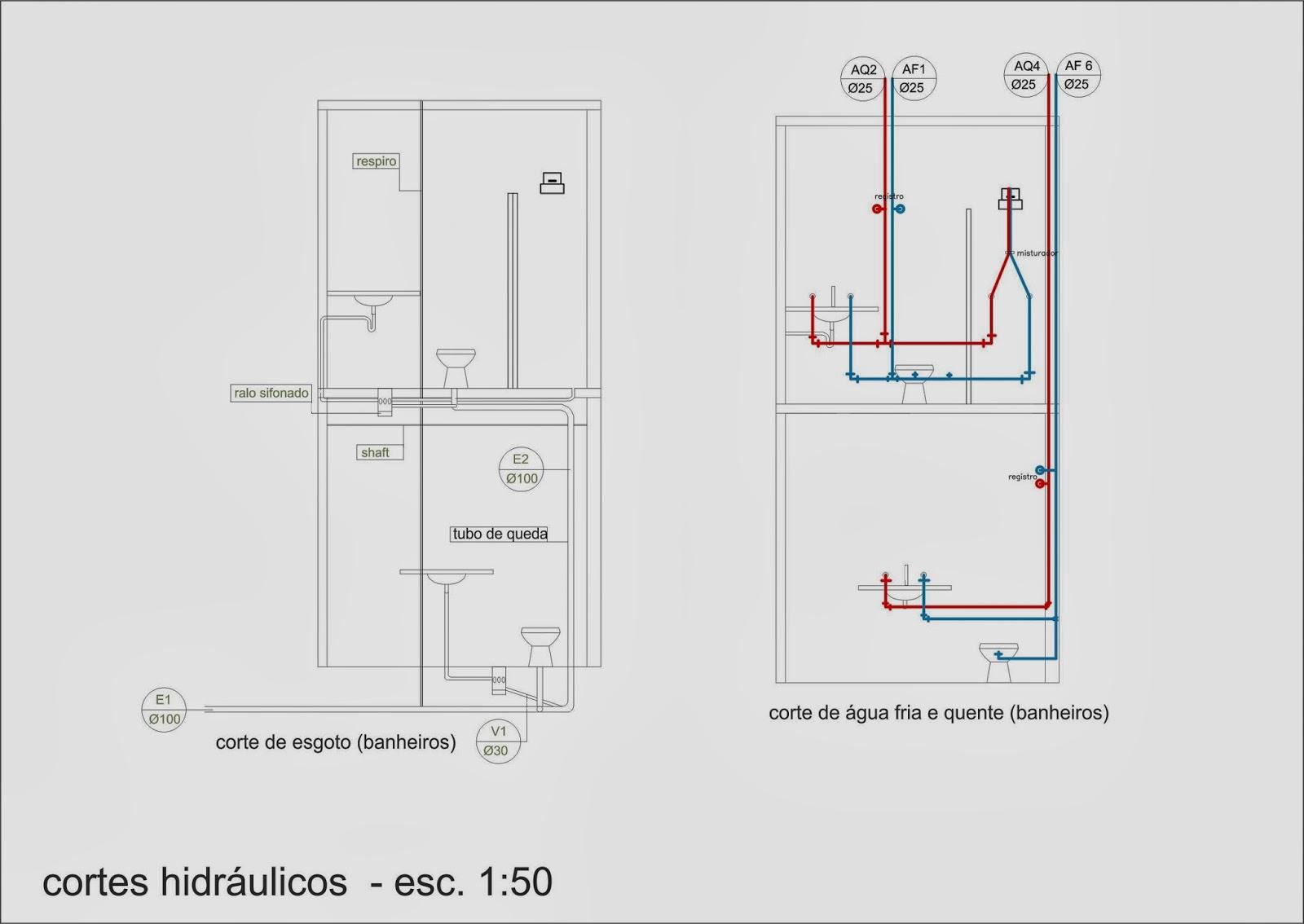 Pellegrino : Projeto de instalações hidráulicas para residência #973534 1600 1134
