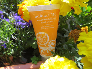 Balance Me, skincare, natural, hand cream, flowers, oil, pure,