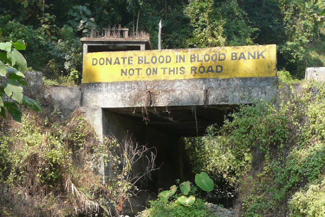 Donate blood in blood bank not on the road
