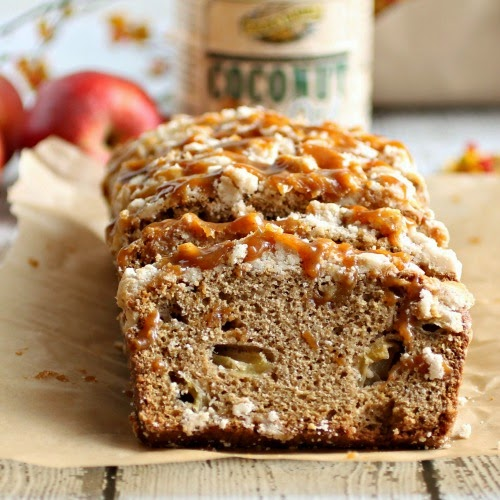 Apple Pie Crumb Bread with Cinnamon Caramel
