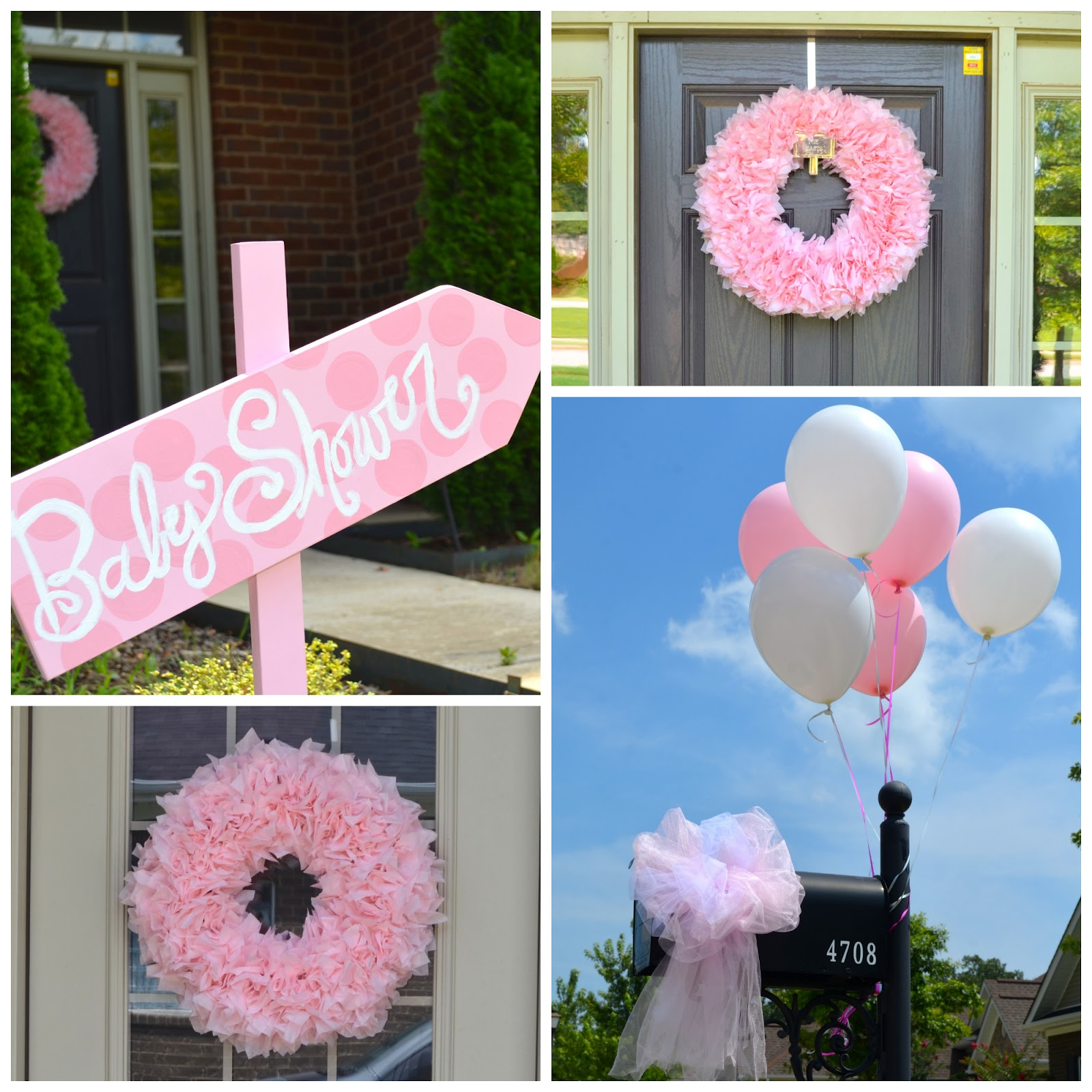 Pink and frilly baby shower