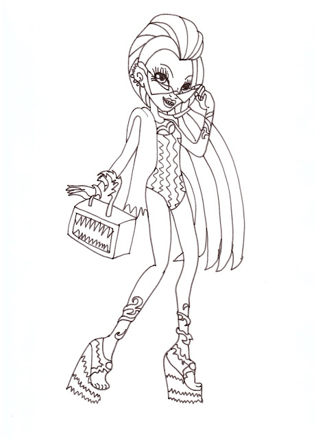 free printable monster high coloring pages venus mcflytrap swim class coloring sheet