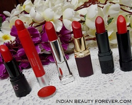 7 Red Lipsticks Swatches