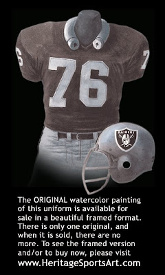 Oakland Raiders 1976 home uniform