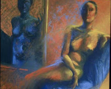 """WOMAN IN BLUE CHAIR"""