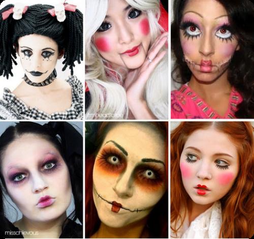 man237a de mujer maquillaje para la noche de halloween