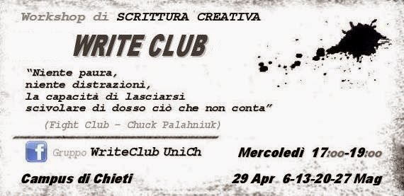 ...il WRITE CLUB arriva all'UniCh!