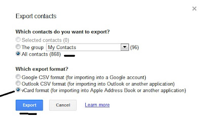 select-contacts-export