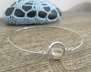 image love bracelet bangle typography two cheeky monkeys words text thesaurus jewellery jewelry
