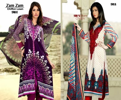 Long Shirt in Printed Lawn Designs