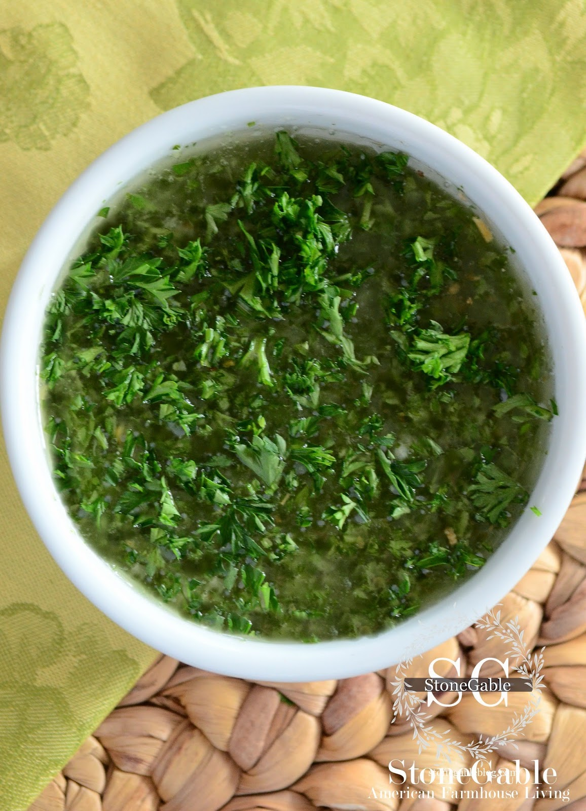 CHIMICHURRI SAUCE~ ONE OF THE BEST SAUCES YOU WILL EVER MAKE!