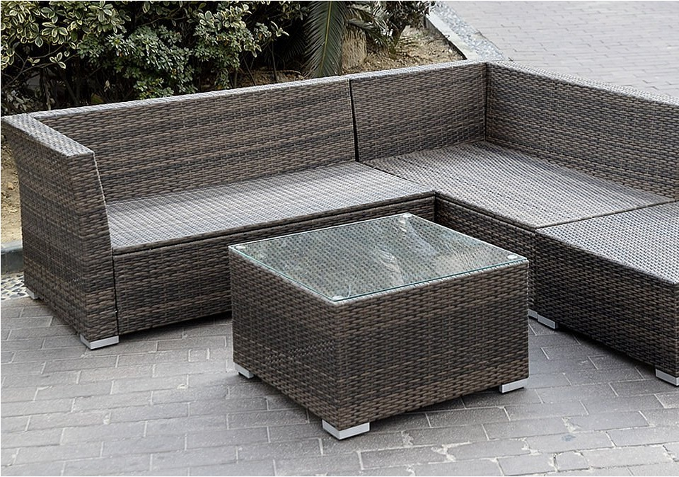 Rattan sofa outdoor  Giantex 6pc Patio Sectional Furniture Pe Wicker Rattan Sofa Set ...