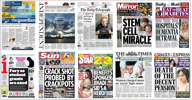 front pages 19-01-16