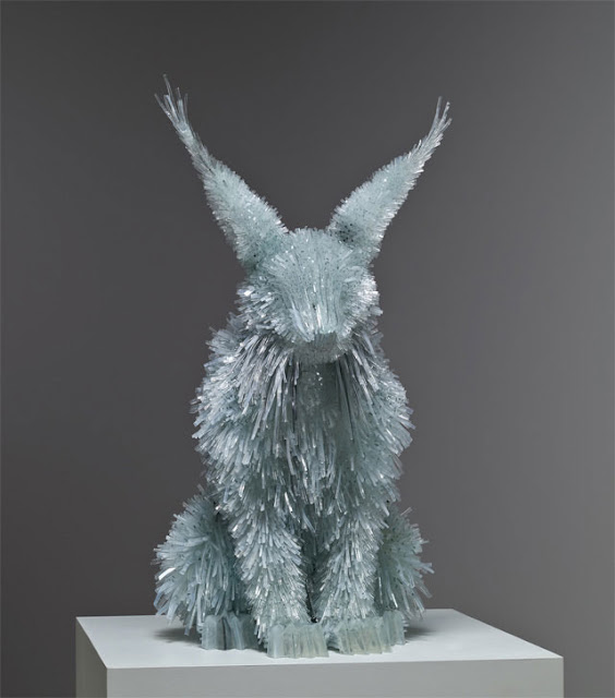 Shattered Glass Animal Sculptures