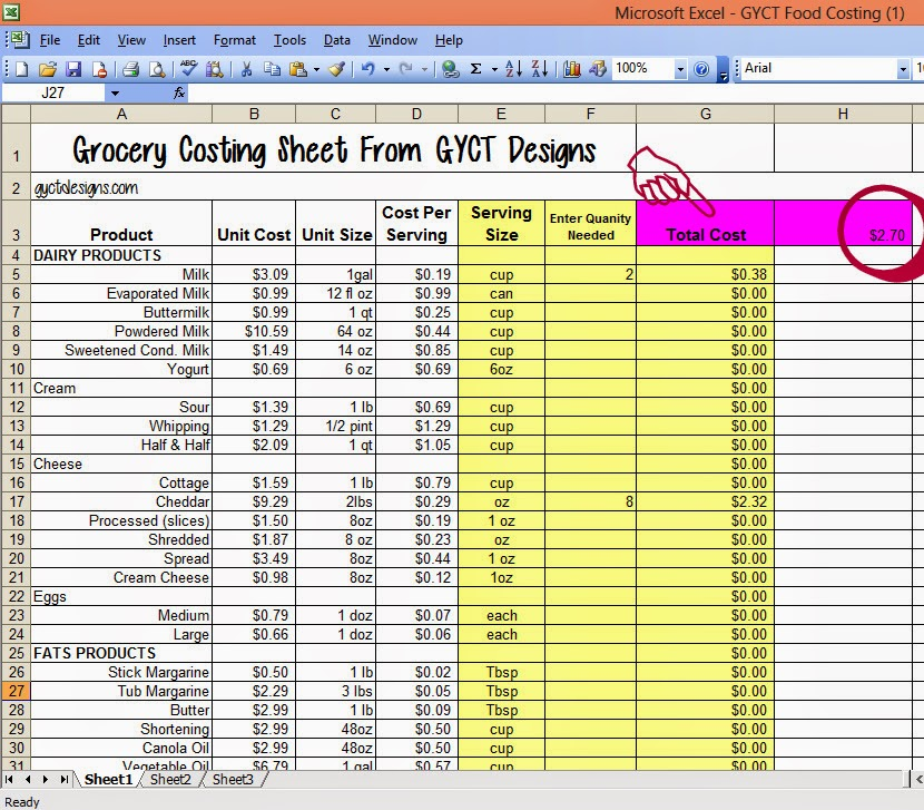 excel food cost recipe template .