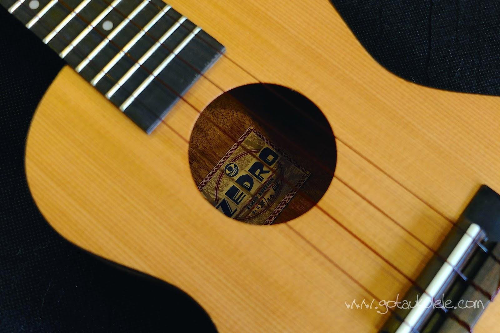Omega Zedro II Concert Ukulele sound hole