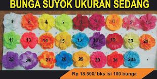 Bunga suyok ukuran standard