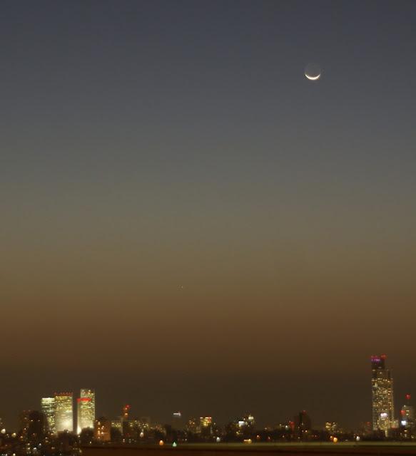 הירח החדש ומרקורי