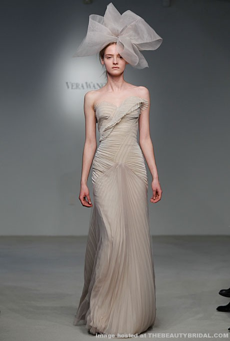 Mad woman 39 s to do list wedding wednesday non white dresses for Vera wang gray wedding dress