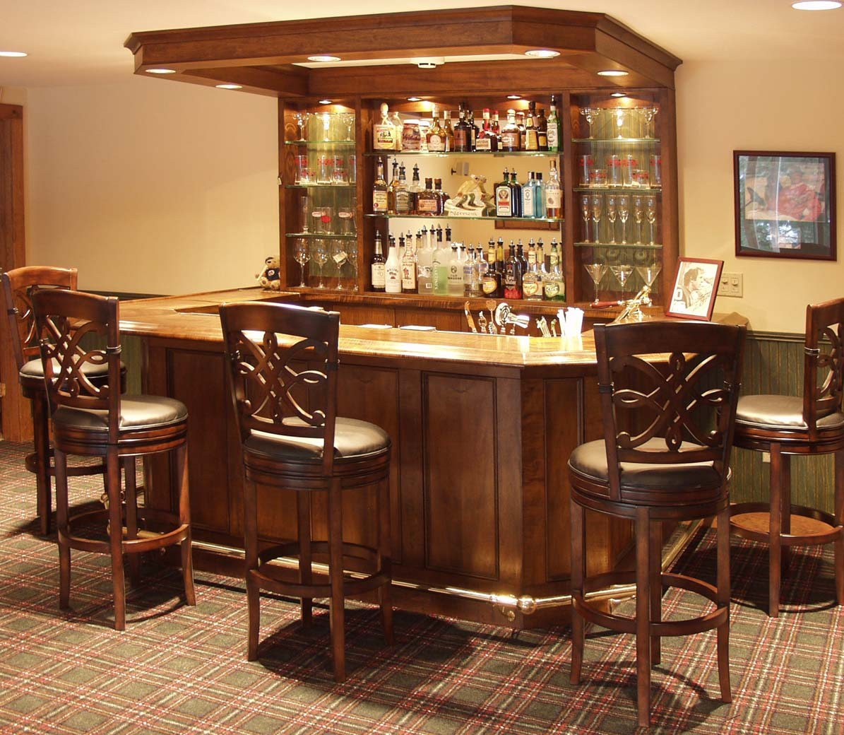 Dorset custom furniture a woodworkers photo journal the for Bar designs at home