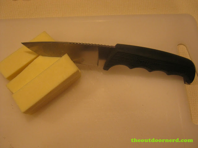 Kershaw Bear Hunter II cutting the cheese :)