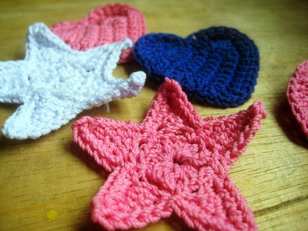 crochet applique star