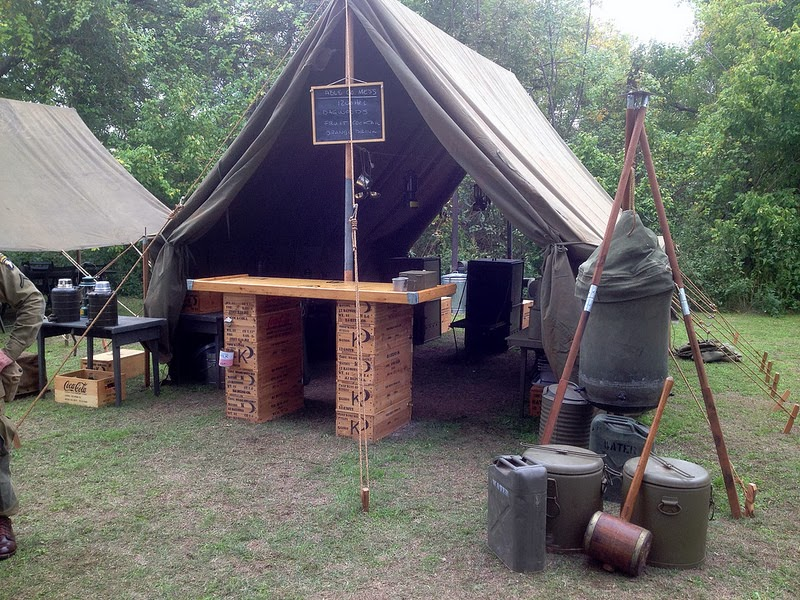 Able Company 502nd PIR 101st AB (Living History Group) out of Texas had put together an incredible WWII era tent enc&ment. The key feature of the c& ... & Armbruster Manufacturing Co. | WWII US Army Canvas Tent Camp by ...