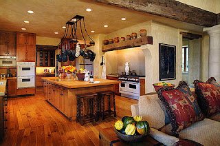 tuscan kitchen cabinets pic