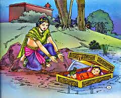 Kunti drowned karna in river