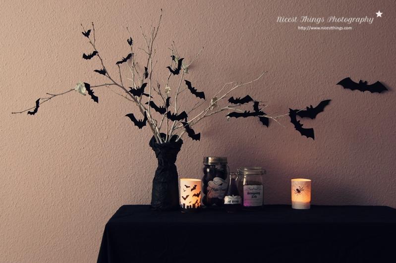 Halloween Deko Ideen: DIY Fledermaus Zweige