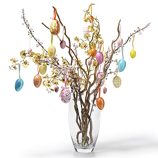 Easter+Twig+in+Vase+Decoration Easter Shopping and Decoration Syling From Selina Lake