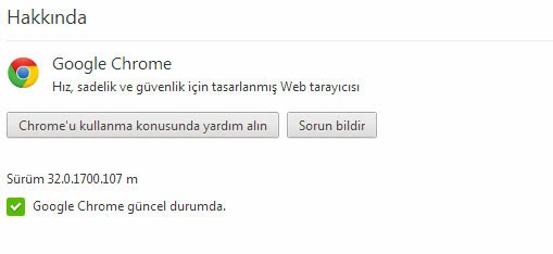 Google Chrome 32 Güncelleme