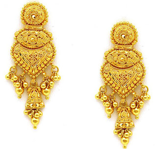 gold ear rings