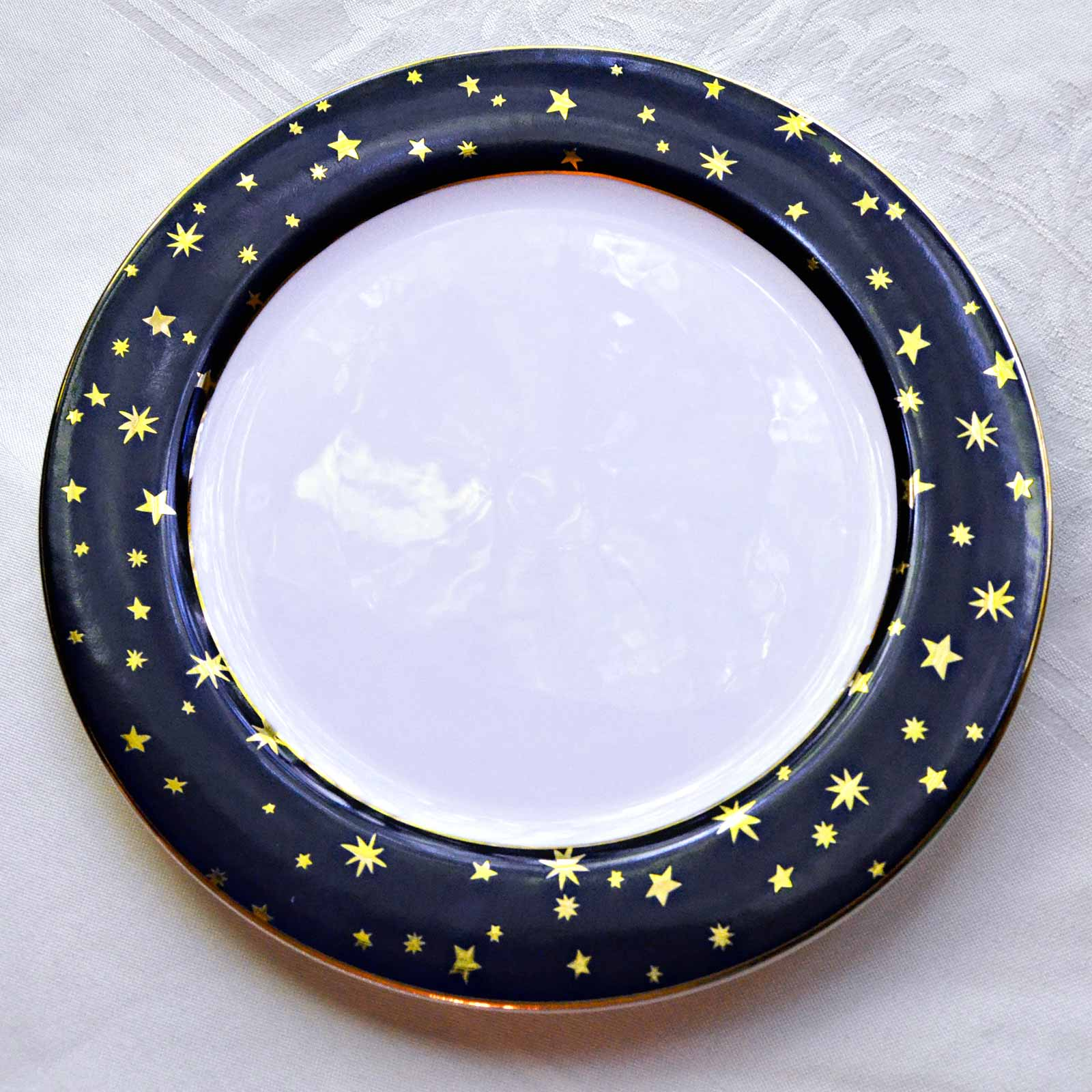 Sakura dinner plate Galaxy pattern
