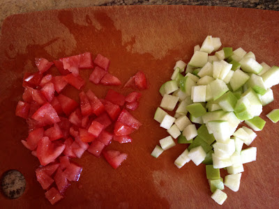 Kid-friendly Persian Cucumber, Tomato and Green Apple Salad