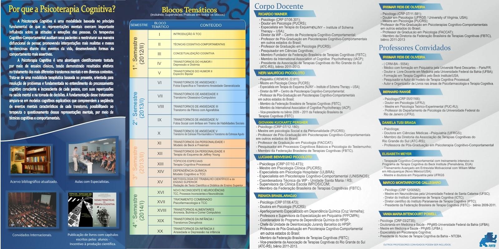 Cursos de especializacao psicologia