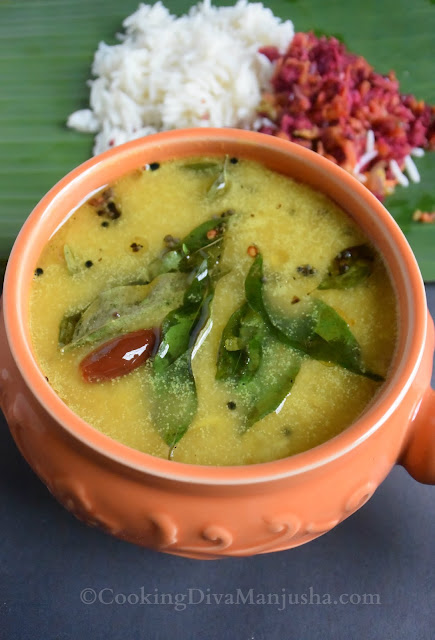Kerala-parippu-curry-made-without-pressure-cooker