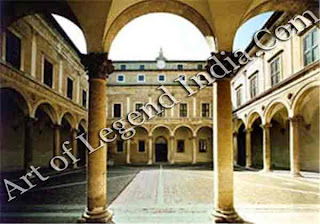 Laurana's courtyard, The famous courtyard of the Ducal Palace, considered to be a masterpiece of architectural purity, was designed by the little known Luciano Laurana.