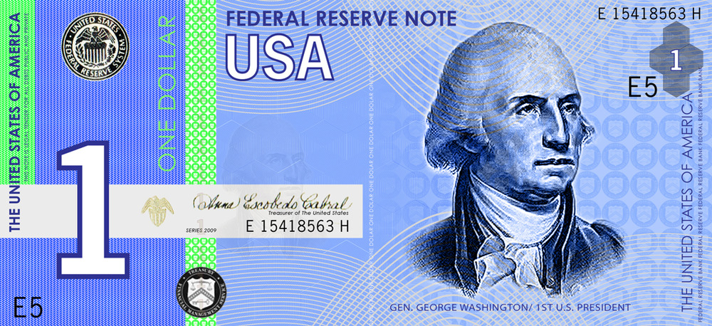 Squirrel banknote s of the month july 2011 the quot blue dollar